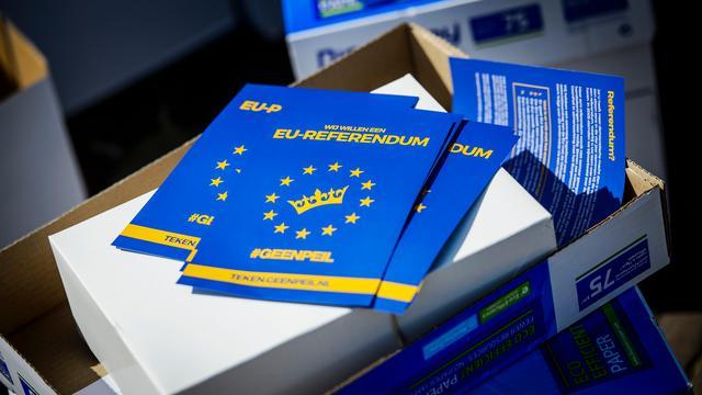Geenpeil wil voortaan referendum over 'alle grote Europese onderwerpen'
