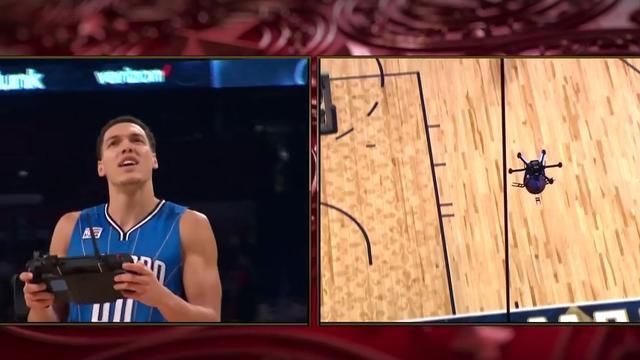 NBA-speler Gordon dunkt met hulp van drone