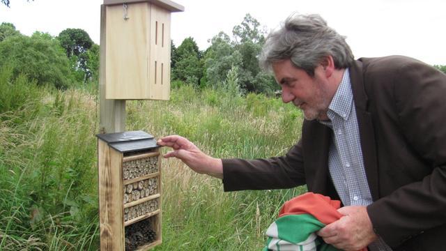 Nieuwe insectenhotels langs randweg Zundert