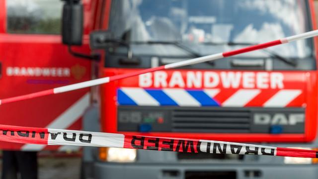 Grote brand in loodsen in Bergschenhoek