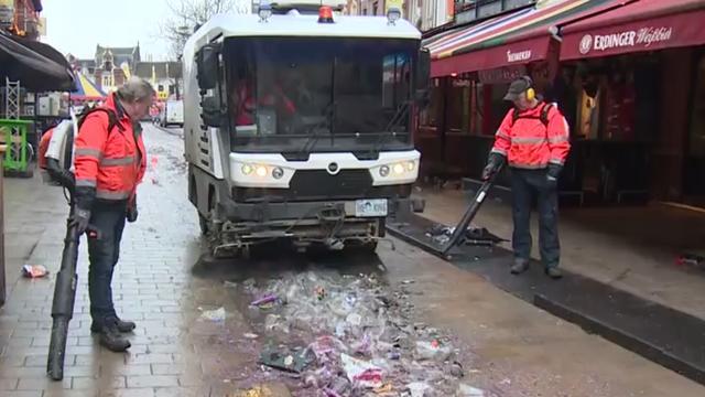 Schoonmakers bereiden Tilburg voor op laatste carnavalsdag