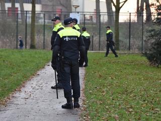 Dinsdag werd met politiehonden ook al gezocht in het Bospark