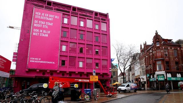 CU en Student&Stad stellen vragen over roze pand Let's Gro