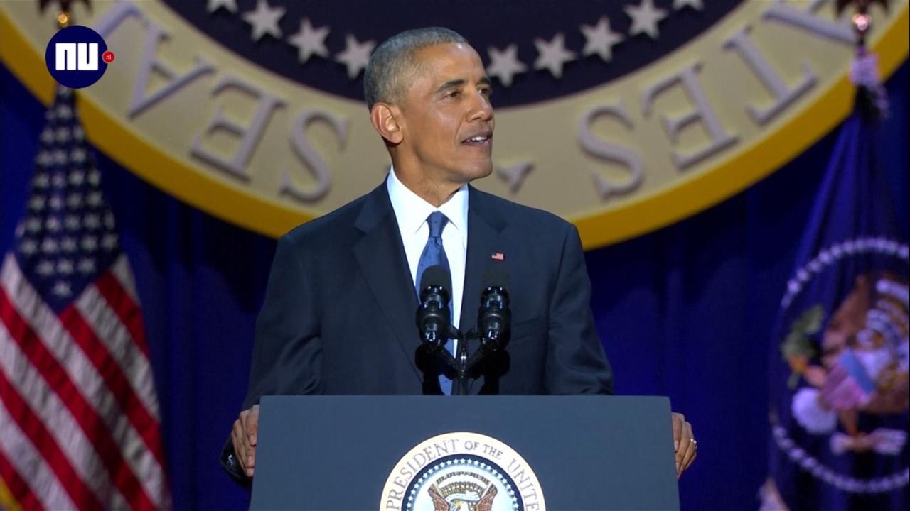 Obama bedankt Amerikaanse volk en gezin in afscheidsspeech