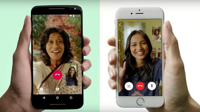 WhatsApp laat alle gebruikers videobellen