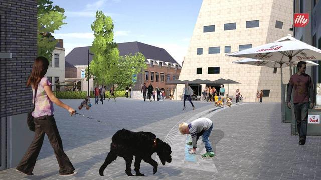 Water, groen en schaatsbaan op Nieuwe Markt