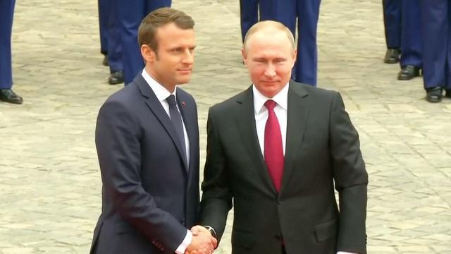 Macron ontvangt Poetin in Frankrijk voor gesprek