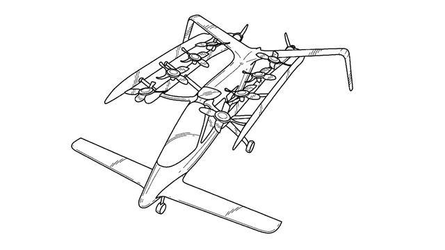 Een patenttekening van Zee.Aero