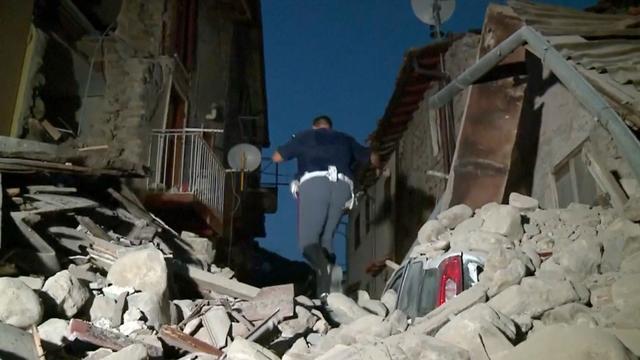Ravage na aardbeving rond Perugia in Italië