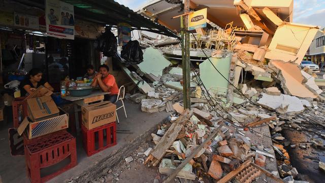 Nieuwe aardbeving treft kust van Ecuador