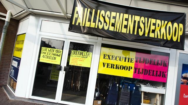 Faillissementen kostten ruim 90.000 banen in 2015