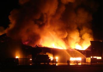 Brandend gebouw
