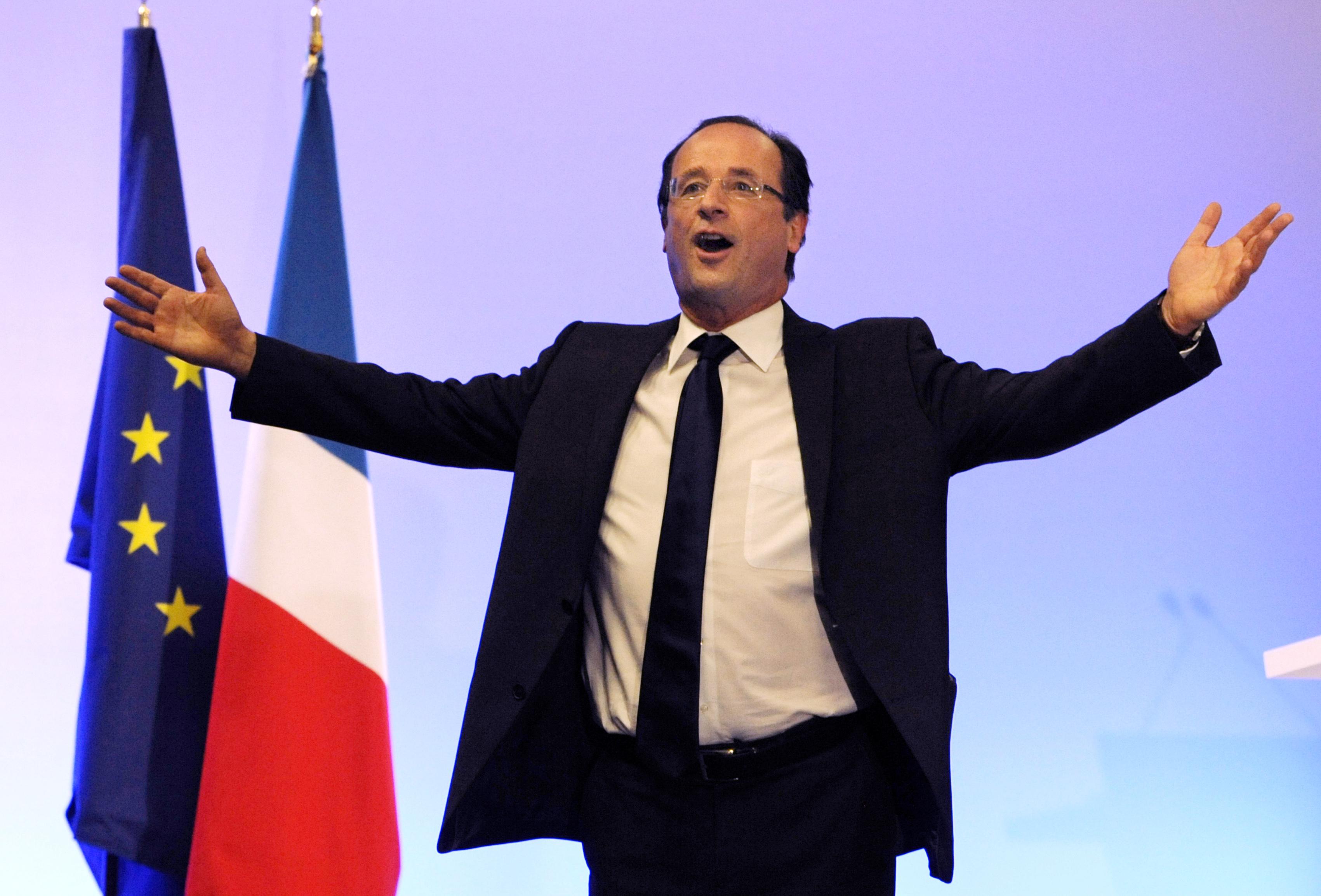Verkiezingen Frankrijk Francois Hollande