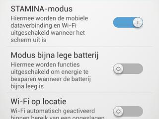 De Battery STAMINA-modus zorgt ervoor dat de smartphone langer gebruikt kan worden.