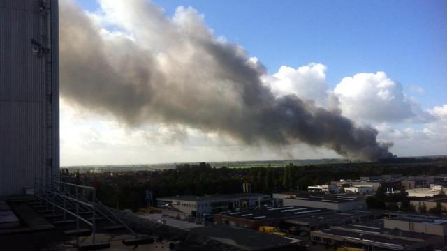 Grote brand in timmerfabriek Woerden
