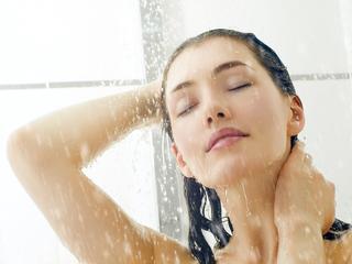 Zelfs onder de douche!
