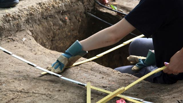 Archeologische vondsten bij warmteput op Zernike