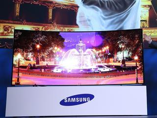 Ook gebogen ultra hd-tv van 105 inch op de markt