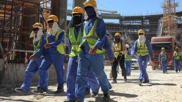 'Actie tegen slechte arbeidsomstandigheden WK Qatar'