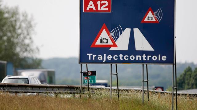 Trajectcontrole op A12 bij Utrecht gaat weer aan