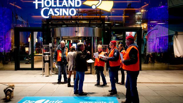Landelijke staking vrijdagavond bij Holland Casino voor betere cao