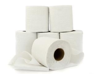 Het wc-papier vormt het één van de bestanddelen van het asfalt