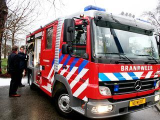 Er zijn twee brandweerwagens ingezet