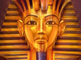 Krassen op het gezicht van masker Egyptische farao