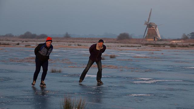 'Volgende week schaatsen op ondergelopen weilanden'