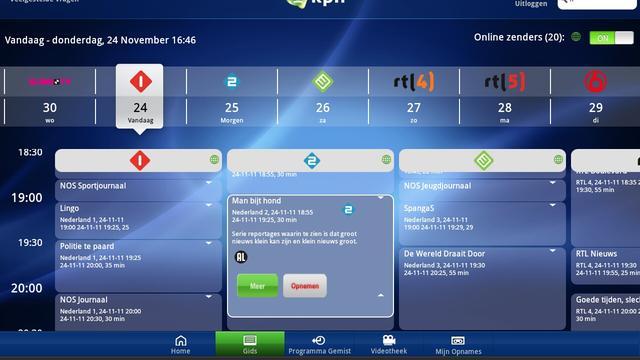 KPN brengt tv-kijken naar Androidtablets