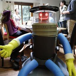 Liftende robot bereikt bestemming