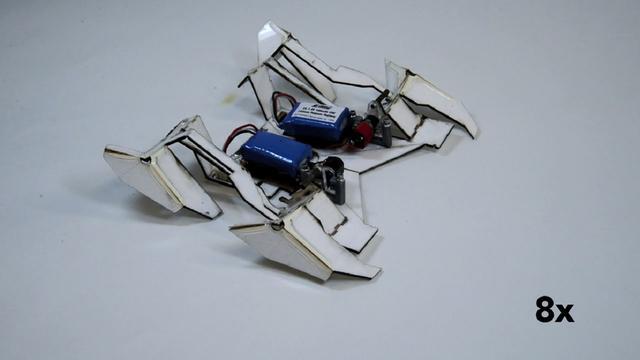 Origamirobot kan zichzelf uitvouwen en weglopen