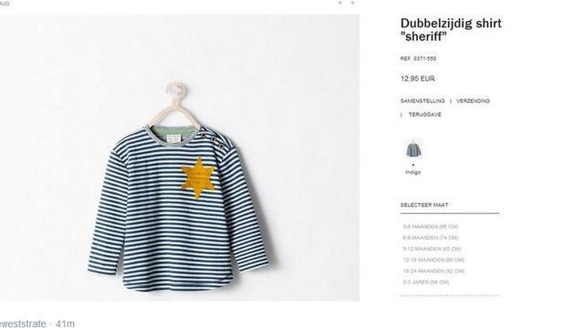 Zara haalt kindershirt met 'Davidster' van website