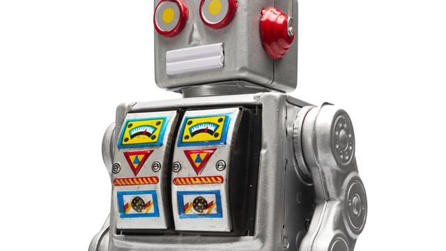 Zieke jongen via robot bij les aanwezig