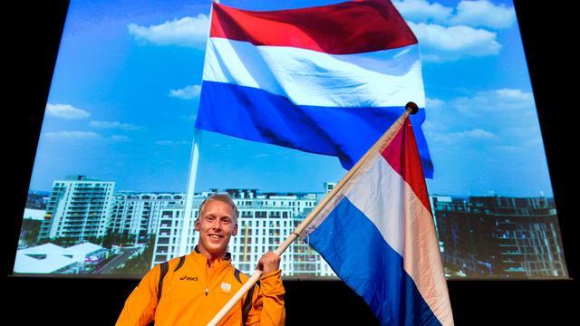 Speerwerper Hertog vlaggendrager Paralympische Spelen