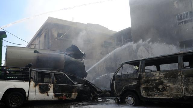 Bom explodeert bij VN-hotel in Damascus