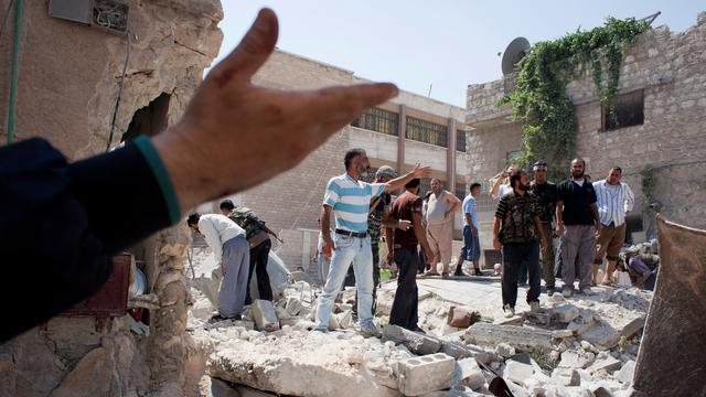 Veel doden door luchtaanval op Syrisch Azaz