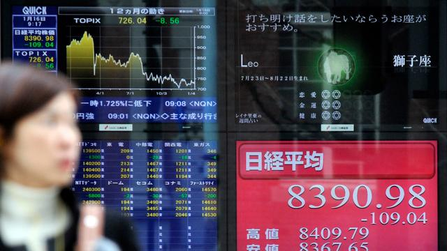Nikkei eindigt fors lager