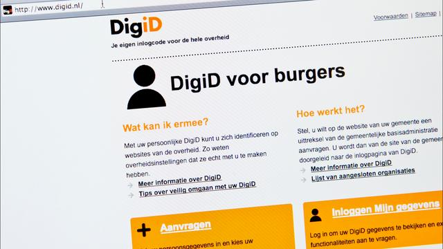 DigiD kampt met storing