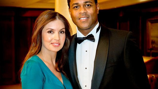 Patrick Kluivert with Wife Rosanna Lima