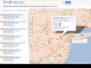 Waarschuwingen in zoekresultaten, Maps en via sms