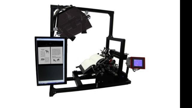 3D-boekscanner scant 250 pagina's per minuut