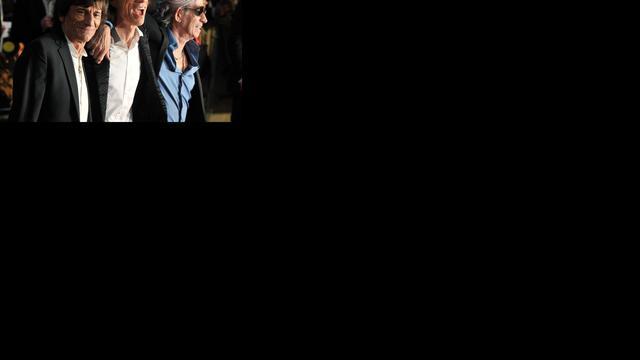 The Rolling Stones bij benefietconcert Sandy