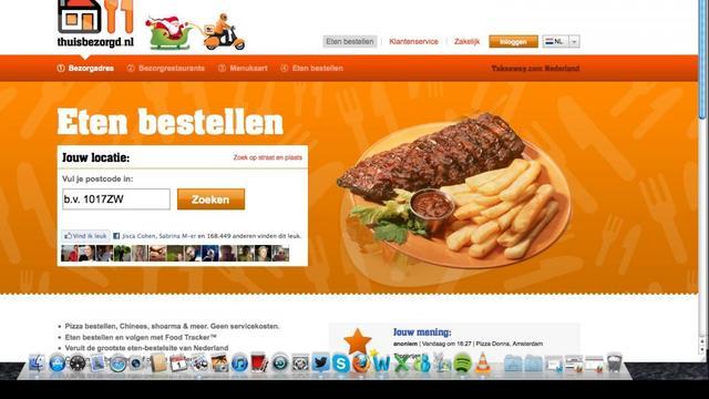 Drukte verwacht bij online bezorgrestaurants