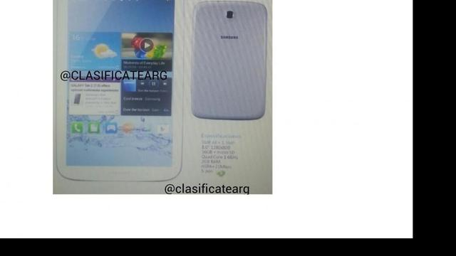 Afbeelding Galaxy Note 8.0 online gezet