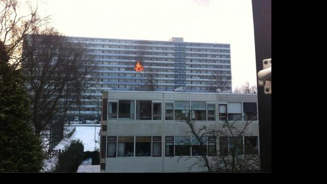 Grote brand in flatgebouw Ede