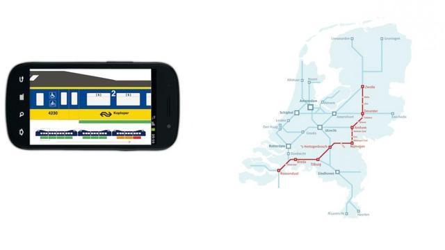 Reisplanner-app NS toont rustige plekken in trein