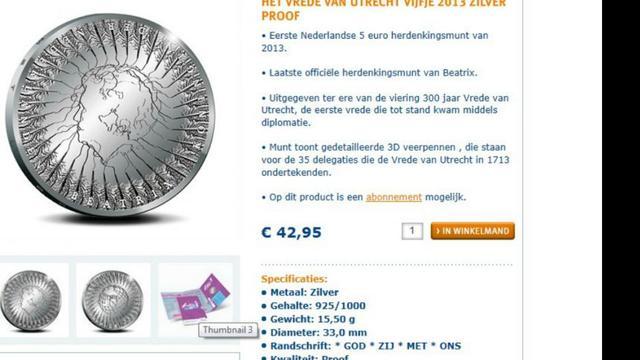 Munt slaat laatste Beatrix-munten