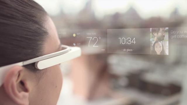 Google toont virtueel scherm van Glass-bril in video