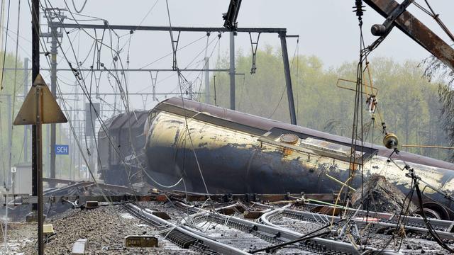 Maatregelen tegen verspreiding gif via riool bij treinramp